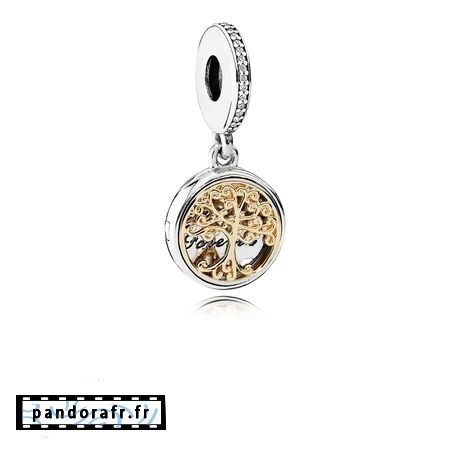 Bijoux Pas Cher Dangle Charms Famille Roots Clear Cz