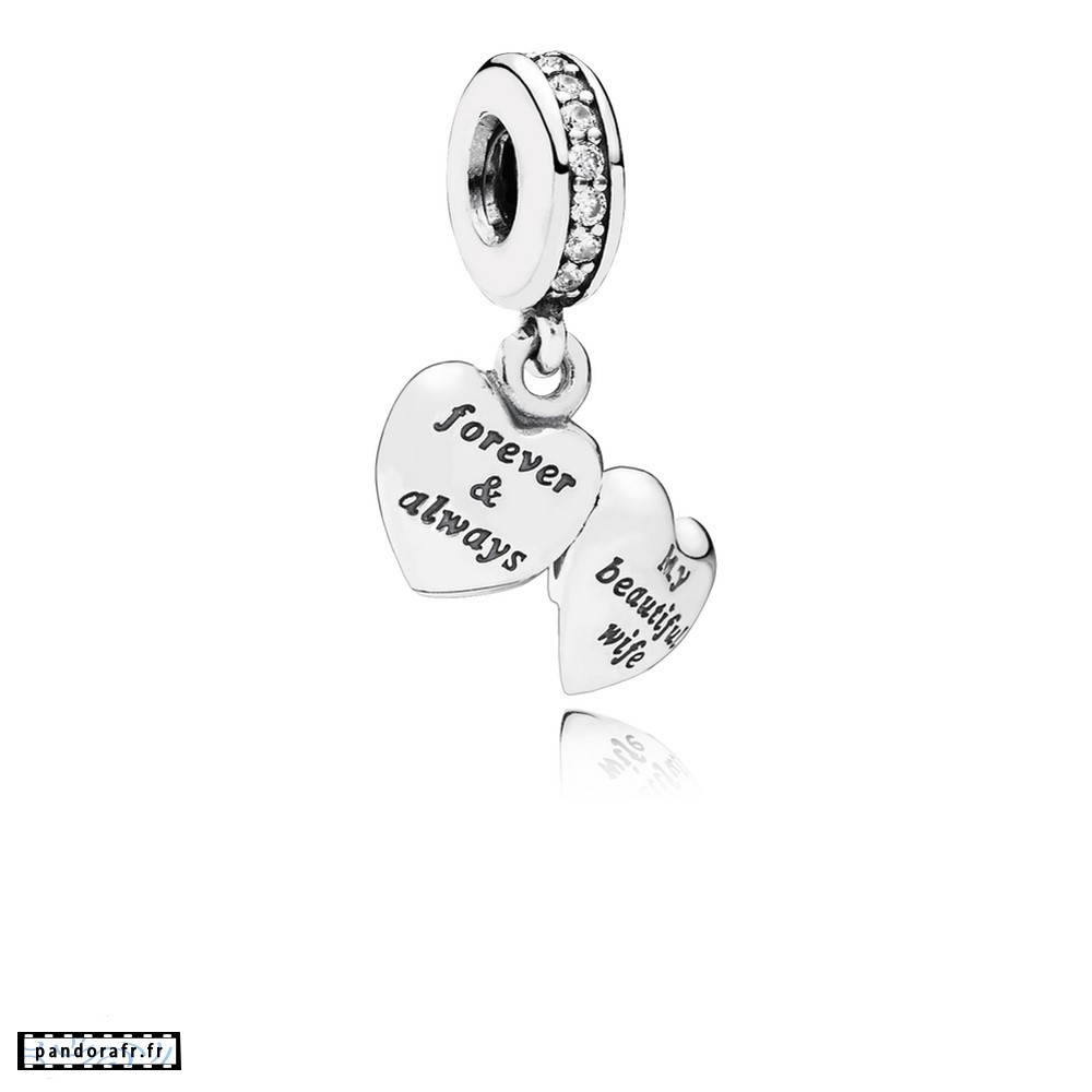 Bijoux Pas Cher Dangle Charms Ma Belle Femme Clear Cz